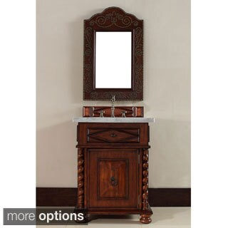 Continental 26-inch Burnished Cherry Single Sink Vanity