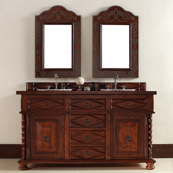 Continental 60-inch Burnished Cherry Double Vanity