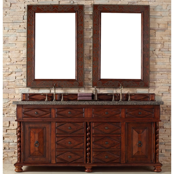 Continental 72-inch Burnished Cherry Double Vanity