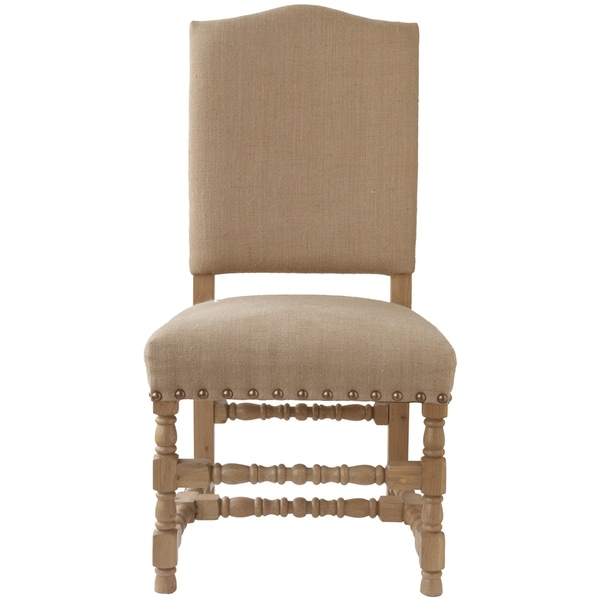 Evan Side Chair with Nail Head Finish