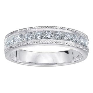 Amore Platinum 1/2ct TDW Diamond Milgrain Wedding Band (G-H, SI1-SI2)