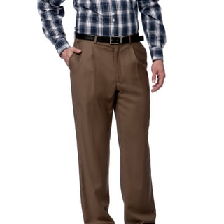 Toscano Fine Wool Taupe Men's Dress Pants