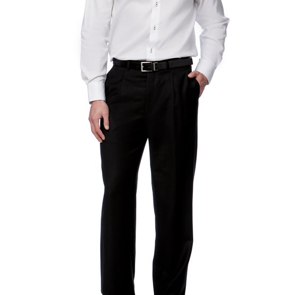 Toscano Fine Wool Black Men's Dress Pants