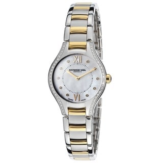 "Raymond Weil Women's 5124-SPS-00985 ""Noemia"" Mother of Pearl Two Tone Stainless Steel Watch"