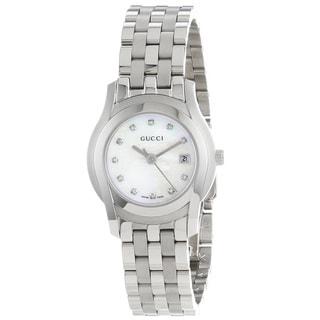 Gucci Women's YA055501 'G-Class' Diamond-Accented Stainless Steel Watch