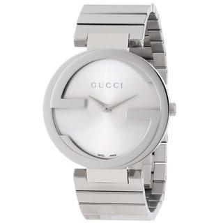 Gucci Women's YA133308 'Interlocking-G' Stainless Steel Watch