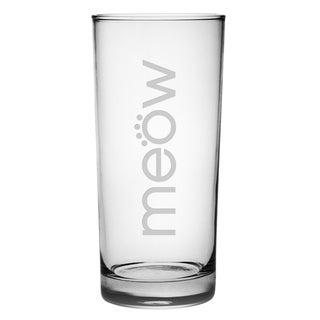 Meow 15-ounce Highball Glasses (Set of 4)