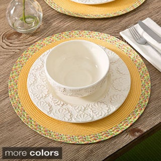 Monaco Border 15-inch Round Placemats (Set of 4)