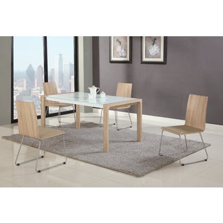 Somette Amelia Light Oak Extendable Dining Set (Set of 5)