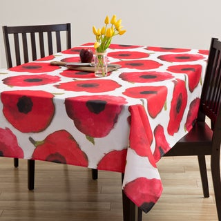 Indoor/Outdorr Maya Poppy Tablecloth