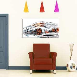 Modern Super Car, 32 x 16-inch Canvas