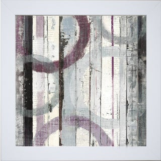 Mike Schick 'Plum Zephyr I ' Framed Artwork