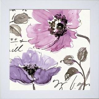 Pela Studio 'Floral Waltz Plum ' Framed Artwork