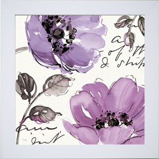 Pela Studio 'Floral Waltz Plum II ' Framed Artwork