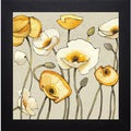 Shirley Novak 'Jaune Gris III' Framed Artwork