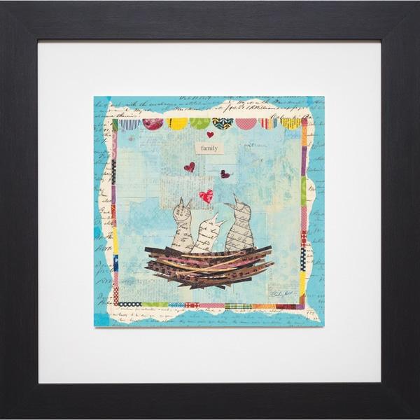 Courtney Prahl 'Blue Love Birds Square ' Framed Artwork