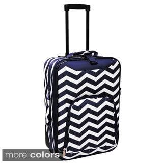 World Traveler Lightweight 20-inch Chevron Carry-on Upright Suitcase Luggage