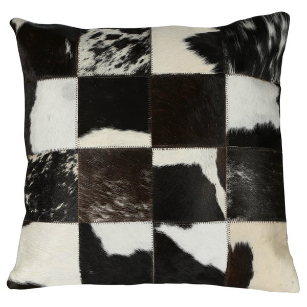 Matador Black Leather Hide Pillow