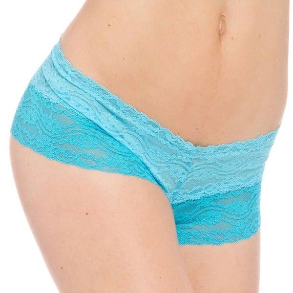 Prestige Biatta Nicole Turquoise Lace Cheeky Underwear