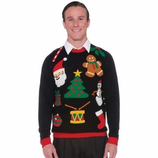 Tacky Everything Real Black Cotton Ugly Christmas Sweater