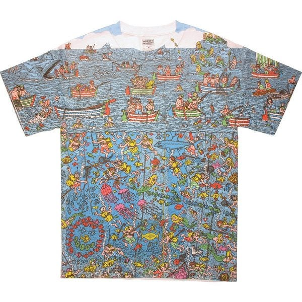 Men's Where's Waldo? Deep Sea Divers Great Search T-shirt