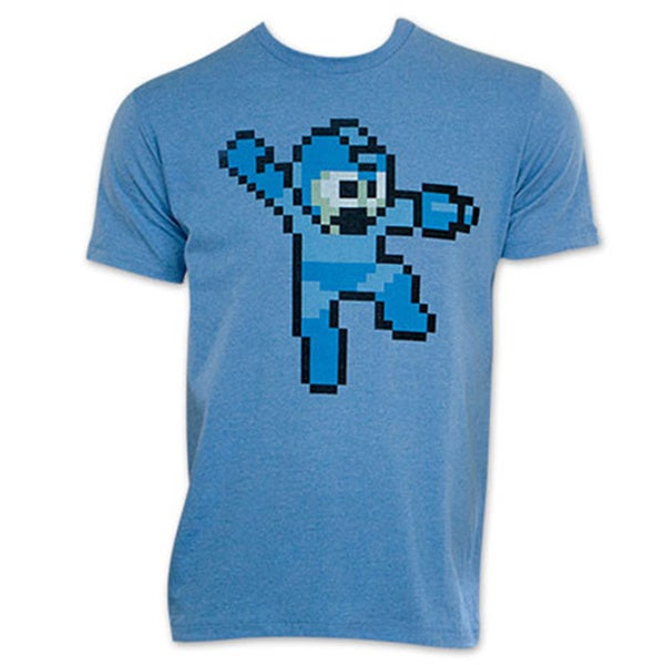 Capcom Men's Mega Man Pixelated 8-bit Video Game T-shirt