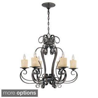 Stafford Spring 6-light Dark Antique Bronze Hanging Chandelier