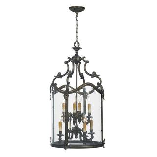 Venezia Collection 8-light Hanging French Bronze Foyer Pendant