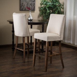 Christopher Knight Home Harman Fabric Bar Stool Tall Beige (Set of 2)
