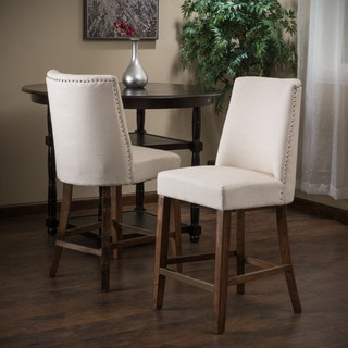 Christopher Knight Home Harman Fabric Counter Stool Beige (Set of 2)