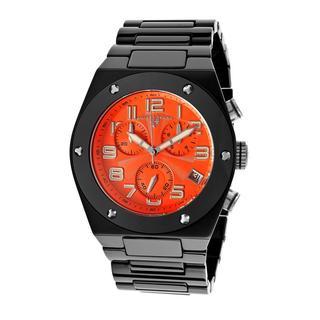 Swiss Legend Men's SL-10028-BKOSA Throttle Orange Dial Watch