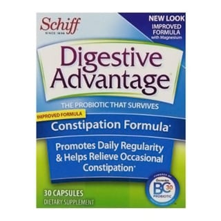 Schiff Digestive Advantage Probiotics Constipation Formula Probiotic Capsules (Pack of 4)