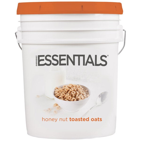 Emergency Essentials Super Pail of Honey Nut Toasted Oats