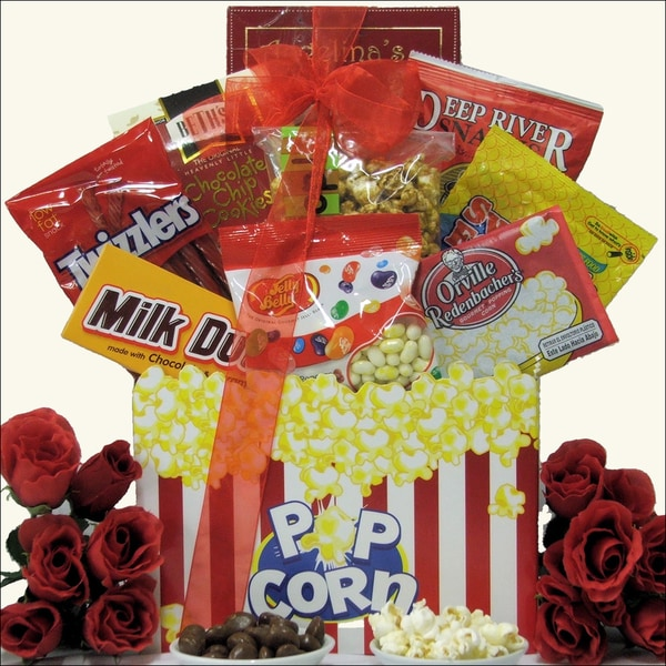 Date Night Valentine's Day Movie Gift Basket with $10 iTunes Gift Card