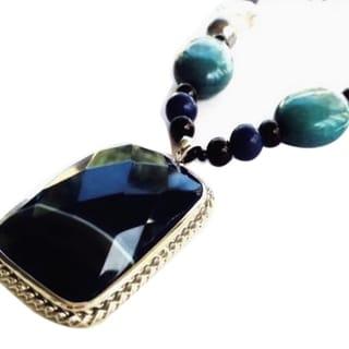 Madame Earth Blue Fairyland Agate Necklace