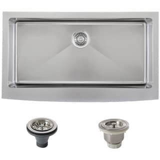 Ticor Stainless Steel Undermount 36-inch Single Bowl Farmhouse Apron Kitchen Sink
