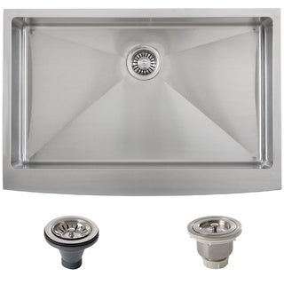 Ticor Stainless Steel Undermount 33-inch Double Bowl Farmhouse Apron Kitchen Sink