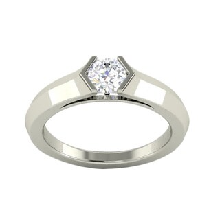 Platinum White Sapphire Ring