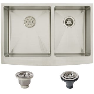 Ticor Stainless Steel Undermount 33-inch Double Bowl Farmhouse Kitchen Sink
