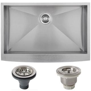 Ticor Stainless Steel Undermount 33-inch Single Bowl Farmhouse Apron Kitchen Sink