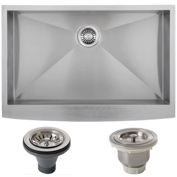 33 Inch Stainless Steel Farmhouse Sink : DEL 33-inch 16-gauge Single Bowl Stainless Steel Undermount Farmhouse ...