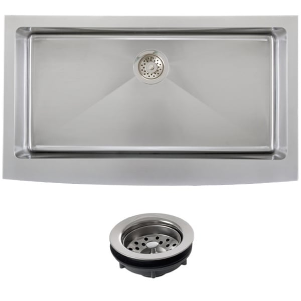 36 Inch Kitchen Sink : ... Steel Undermount 36-inch Single Bowl Farmhouse Apron Kitchen Sink