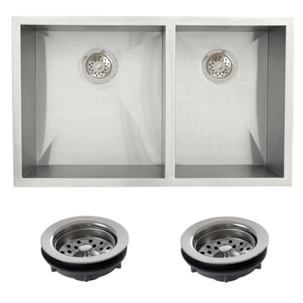 ... Steel Undermount 33-inch Double Bowl Farmhouse Apron Kitchen Sink