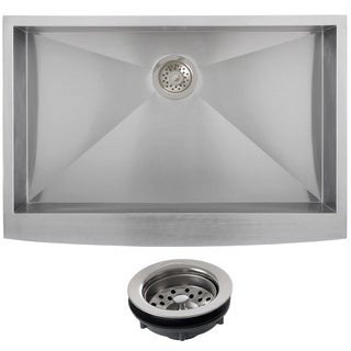 Ticor Stainless Steel Undermount 33-inch Single Bowl Farmhouse Apron Kitchen Sink