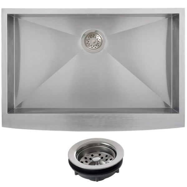 24 Inch Stainless Steel Farmhouse Sink : Ticor Stainless Steel Undermount 33-inch Single Bowl Farmhouse Apron ...