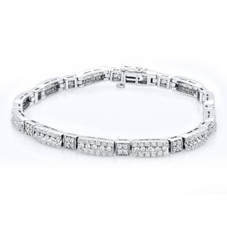 Bridal Symphony 10k White Gold 3ct TDW Diamond Bracelet (I-J, I2-I3)