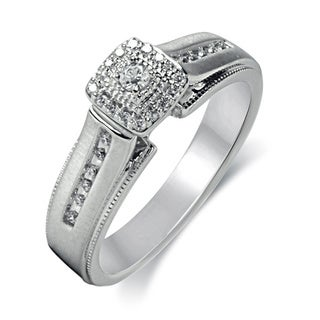 Bridal Symphony 14k White Gold 1/3ct TDW Diamond Ring (I-J, I2-I3)