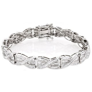 14k Gold Baguette 5ct TDW Diamond Bracelet (H-I, SI1-SI2)