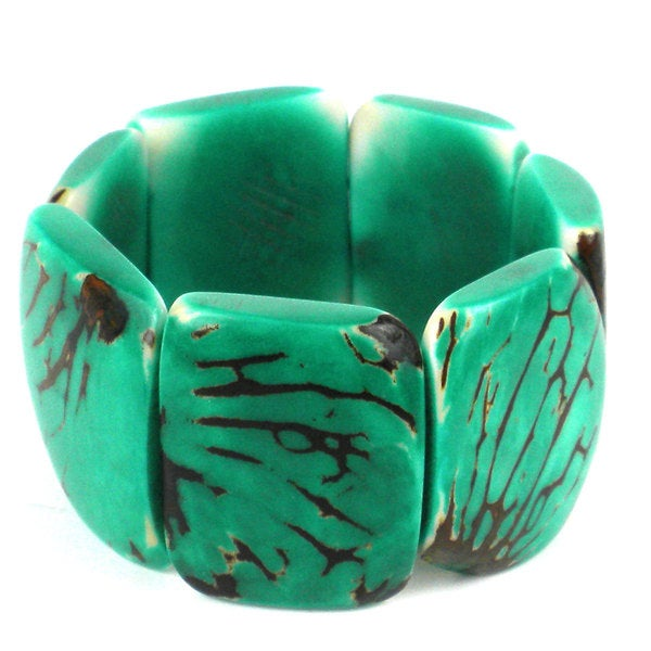 Jade Green Classic Tagua Bracelet (Ecuador)