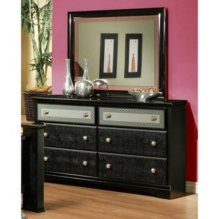 Sandberg Furniture Midnight Sky Dresser and Mirror